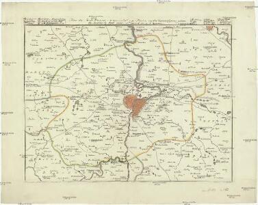 Plan der Stadt Praag met zyn onderhorige Plaatze