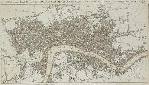 A New & accurate PLAN of the CITIES of LONDON, WSTMINSTER & BOROUGH of SOUTHWARK with the Out Parts & New Buildings completed to the Year 1791.