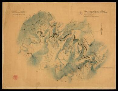 Plano de la conca del Barranc de la Valltorta en els termes de Tirig, Albocacer i coves de Vinromà / treball topogràfic executat per al Servei d'Excavacions de l'Institut