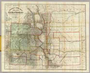 Thayer's New Map Of The State of Colorado.