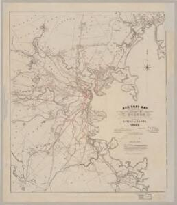 Rail road map : showing the street rail road routes in and leading from Boston, with the terminus of each road in suburban cities or towns