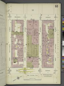 Manhattan, V. 5, Plate No. 60 [Map bounded by 7th Ave., West 52nd St., 6th Ave., West 49th St.]