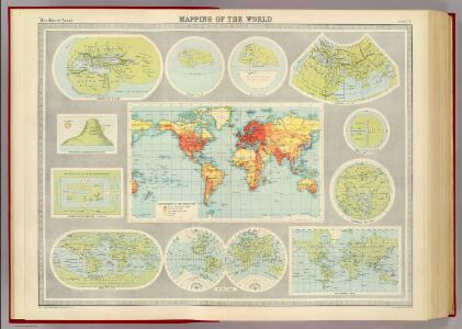 Mapping of the world.