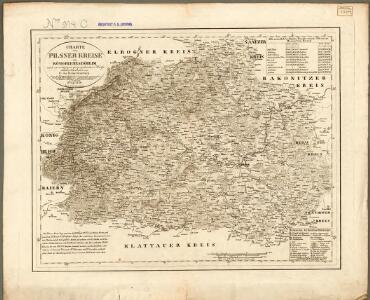 Charte von Pilsner Kreise des Königreiches Böheim nach zuverlässigen geographischen Hü