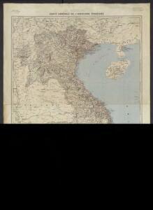 Carte générale de l'Indochine Française
