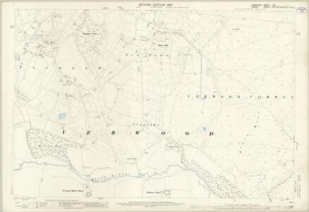 Hampshire and Isle of Wight LXX.1 (includes: Harbridge and Ibsley; Horton; Verwood) - 25 Inch Map