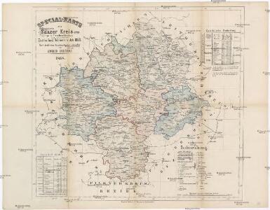 Special-Karte des Saazer Kreis - resp. politischen Verwaltungsbezirkes