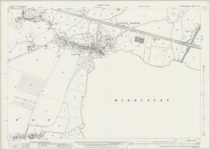 Buckinghamshire LVI.12 (includes: Horton; Iver; Stanwell) - 25 Inch Map