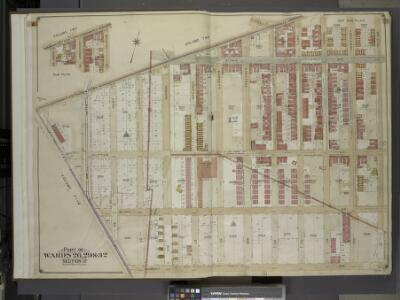 Brooklyn, Vol. 4, Double Page Plate No. 1; Part of    Wards 26, 29 & 32, Section 12; [Map bounded by East New York Ave., St. Johns     Pl., Bristol St. Including Dumont Ave., East Ninetyeight St.]; Sub Plan; [Map    bounded by East New York Ave., Bris