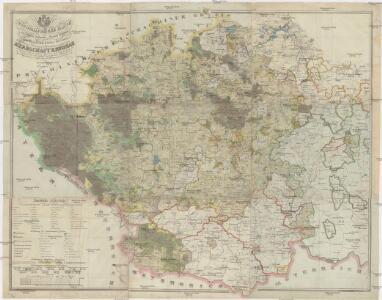 Topographische Karte der in Böhmen budweiser Kreises liegenden Sr. Durchlaucht dem Fürsten zu Schwarzenberg Herzog zu Krummau gehörigen Herrschaft Krummau