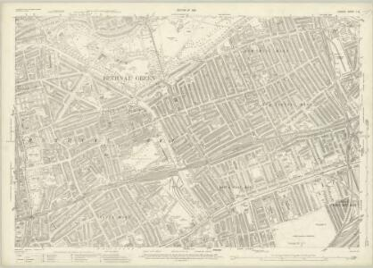 London (1915- Numbered sheets) V.8 (includes: Bethnal Green; Hackney; Poplar Borough; Stepney) - 25 Inch Map