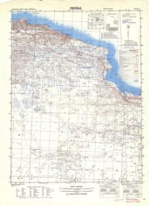 Egypt and Cyrenaica 1:250,000, Derna