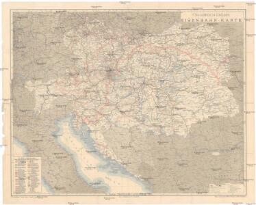 Oesterreich-Ungarn Eisenbahn-Karte