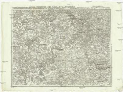 Carte topographique tres exacté de la Wetteravie