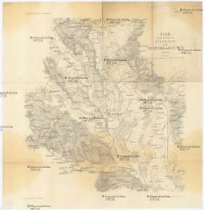 Plan zu den Gefechten bei Biskupitz 14. Juli Tobitschau und Roketnitz 15. Juli 1866
