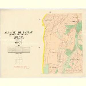 Alt und Neu-Klitschau - c3160-1-002 - Kaiserpflichtexemplar der Landkarten des stabilen Katasters