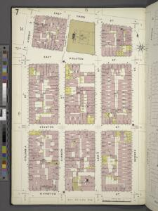 Manhattan, V. 2, Plate No. 7 [Map bounded by E. 3rd St., Goerck St., Rivington St., Columbia St.]