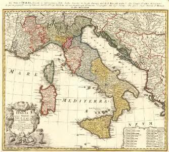 Italia in suos Statvs divisa et ex prototypo del Isliano de sumta Elementis