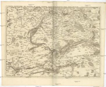 Carte particuliere des environs de Lille, Tournay, Valenciennes, Bouchain, Douay, Arras, Bethune