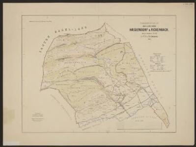 Uebersichtsplan der Gemeinden Hägendorf und Rickenbach