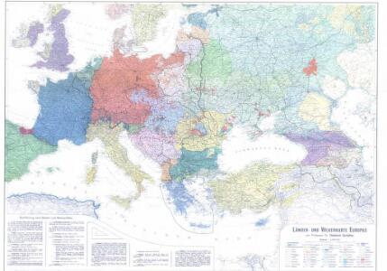 Länder- und Völkerkarte Europas