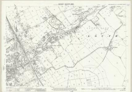 Lincolnshire XLVIII.14 (includes: Keddington; Louth; Stewton) - 25 Inch Map