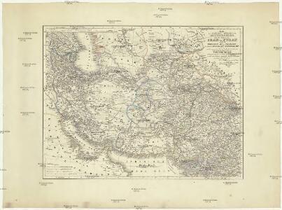 Karte des westlichen Hochlandes von Mittel-Asien