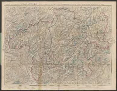 Karte des Kantons Graubünden