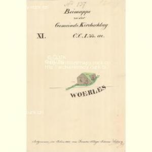 Kirchschlag - c7621-1-013 - Kaiserpflichtexemplar der Landkarten des stabilen Katasters