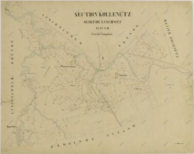 Mapy činžovních pozemků II. sekce třeboňského velkostatku pro obce: Klec, Kolence, Lužnice, Mláka, Stará Hlína 1