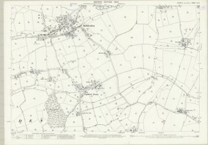 Suffolk LV.8 (includes: Buxhall; Rattlesden) - 25 Inch Map