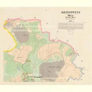 Krzižowitz - c3673-1-001 - Kaiserpflichtexemplar der Landkarten des stabilen Katasters