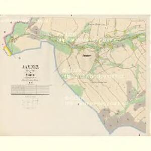 Jamney (Jamny) - c2741-1-005 - Kaiserpflichtexemplar der Landkarten des stabilen Katasters