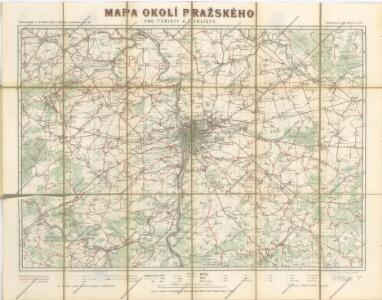 Mapa okolí pražského pro turisty a cyklisty