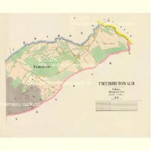 Friedrichswald - c0100-2-002 - Kaiserpflichtexemplar der Landkarten des stabilen Katasters