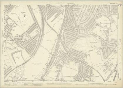 London (1915- Numbered sheets) IX.12 (includes: Camberwell; Deptford St Paul; Lewisham) - 25 Inch Map