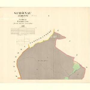 Schönau (Schenow) - m3017-1-001 - Kaiserpflichtexemplar der Landkarten des stabilen Katasters