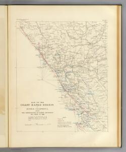 Coast Range Middle California distribution of earth movement.