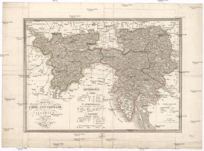 Karte von Tirol, Steyermark und Illyrien
