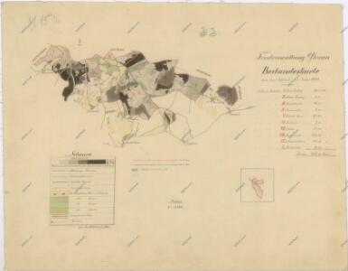 Porostní mapa revíru Dlažov