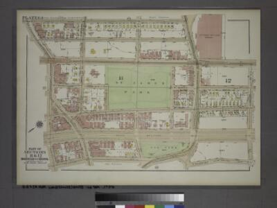 Plate 64, Part of Sections 11&12, Borough of the Bronx. [Bounded by Grand Avenue, W. Kingsbridge Road, Jerome Avenue, E. 196th Street, Valentine Avenue, E. 188th Street and W. Fordham Road.]