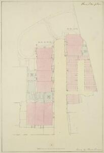 Drawn Plan of the Houses, Stables and Gardens in Hamilton Place
