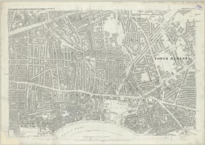 London (First Editions c1850s) XXXVII (includes: Bermondsey; Stepney) - 25 Inch Map