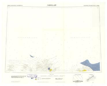 Geologiske kart 121-V Kart med magnetisk totalfelt. Nordkapp