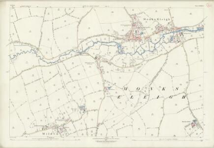 Suffolk LXXIII.3 (includes: Brent Eleigh; Milden; Monks Eleigh) - 25 Inch Map