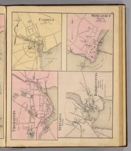 Camden, Wiscasset, Damariscotta, Newcastle, Thomaston.
