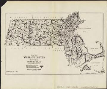 Map of Massachsuetts showing state highways laid out & petitioned for