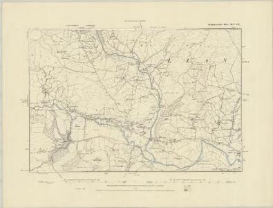 Montgomeryshire IX.NE - OS Six-Inch Map