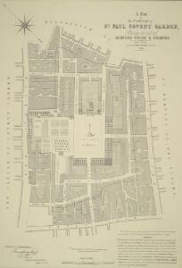 A Map of the PARISH of ST. PAUL COVENT GARDEN, Shewing the site of BEDFORD HOUSE & GROUNDS. From a Survey, made by WILLIAM LYBORN, in the Year 1686.