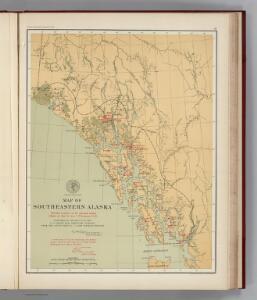 Facsimile:  U.S. Coast Survey Southeastern Alaska (portion).